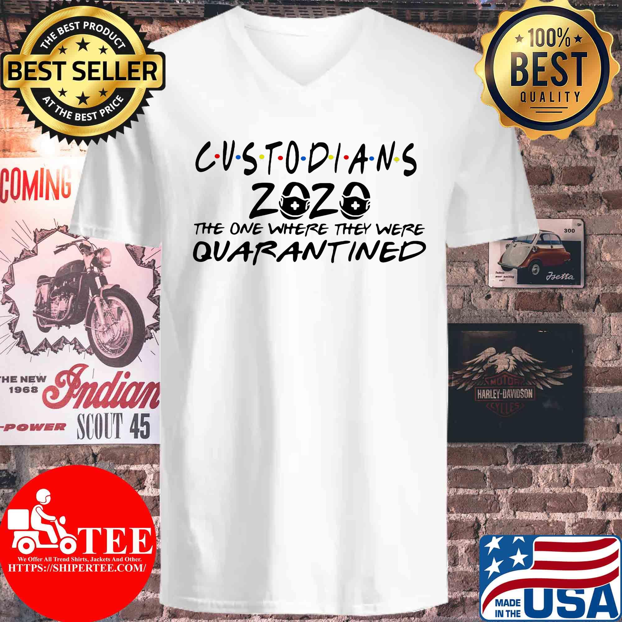 Custodians 2020 the one where they were quarantined s V-neck
