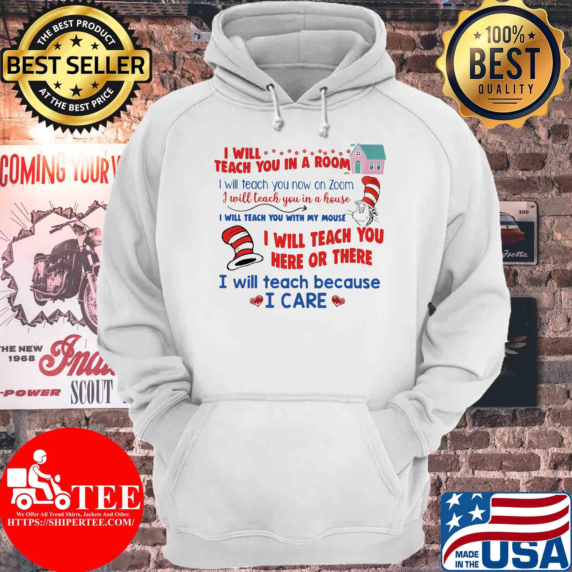 I Will Teach You In A Room I Will Teach You Now Zoom s Hoodie